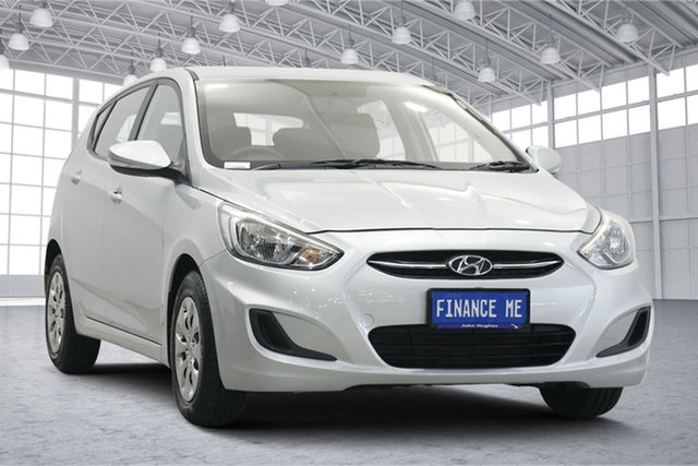 Used Hyundai Accent RB4 MY17 Active Victoria Park, 2016 Hyundai Accent RB4 MY17 Active Sleek Silver 6 Speed Constant Variable Hatchback