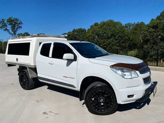 Used Holden Colorado RG MY15 LS Space Cab Cooroy, 2015 Holden Colorado RG MY15 LS Space Cab White 6 Speed Sports Automatic Cab Chassis