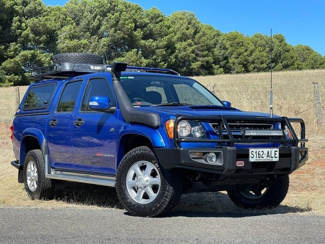 Used Holden Colorado RC MY11 LX-R Crew Cab Clare, 2010 Holden Colorado RC MY11 LX-R Crew Cab Blue 5 Speed Manual Utility