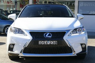 2017 Lexus CT ZWA10R MY16 CT200h F Sport White 1 Speed Constant Variable Hatchback Hybrid