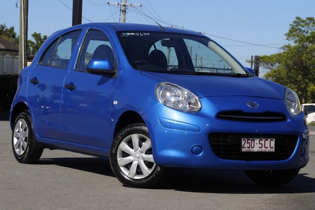 Used Nissan Micra K13 ST Rocklea, 2011 Nissan Micra K13 ST New York Blue 5 Speed Manual Hatchback