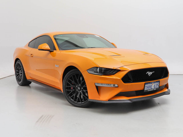 Used Ford Mustang FN Fastback GT 5.0 V8, 2018 Ford Mustang FN Fastback GT 5.0 V8 Orange Fury 10 Speed Automatic Coupe