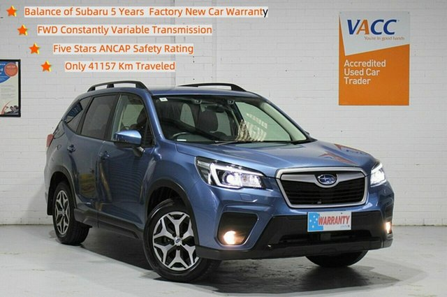 Used Subaru Forester S5 MY19 2.5i CVT AWD Moorabbin, 2019 Subaru Forester S5 MY19 2.5i CVT AWD Blue 7 Speed Constant Variable Wagon