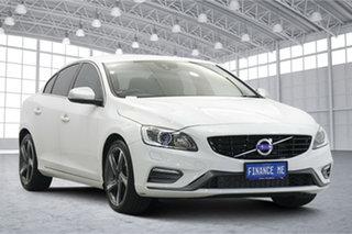 2016 Volvo S60 F Series MY16 T5 Adap Geartronic R-Design White 8 Speed Sports Automatic Sedan.