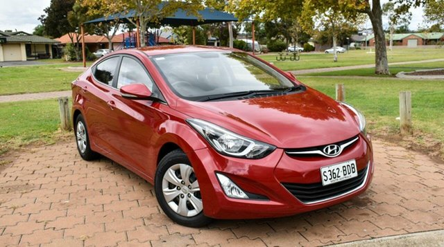 Used Hyundai Elantra MD3 Active Ingle Farm, 2014 Hyundai Elantra MD3 Active Red 6 Speed Sports Automatic Sedan
