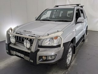 2007 Toyota Landcruiser Prado KDJ120R GXL Silver 6 Speed Manual Wagon.