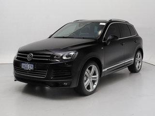 2013 Volkswagen Touareg 7P MY13.5 V8 TDI R-Line Black 8 Speed Automatic Wagon.