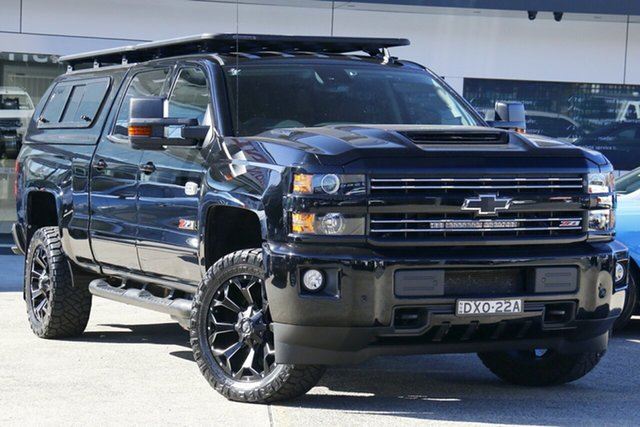 Used Chevrolet Silverado C/K25 2500HD Pickup Crew Cab LTZ Midnight Edition Homebush, 2018 Chevrolet Silverado C/K25 2500HD Pickup Crew Cab LTZ Midnight Edition Black 6 Speed Automatic