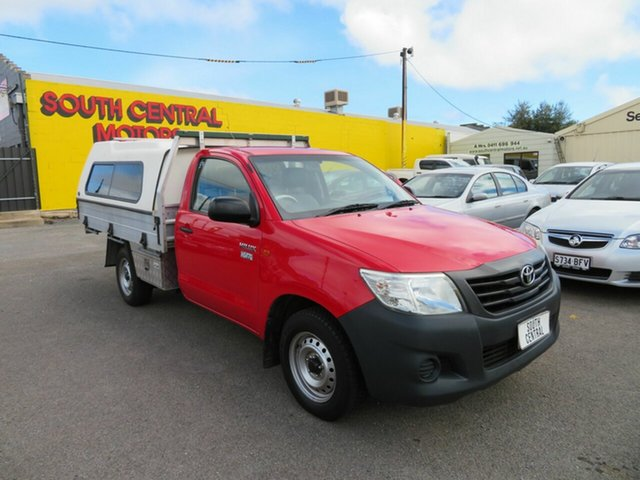 Used Toyota Hilux TGN16R MY14 Workmate Morphett Vale, 2013 Toyota Hilux TGN16R MY14 Workmate Red 5 Speed Manual Cab Chassis