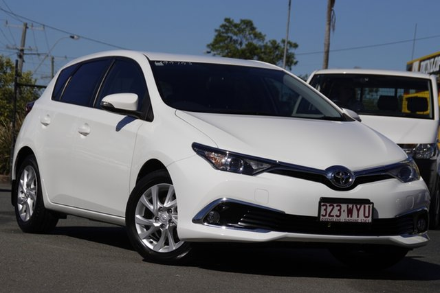 Used Toyota Corolla ZRE182R Ascent Sport S-CVT Rocklea, 2017 Toyota Corolla ZRE182R Ascent Sport S-CVT Glacier White 7 Speed Constant Variable Hatchback