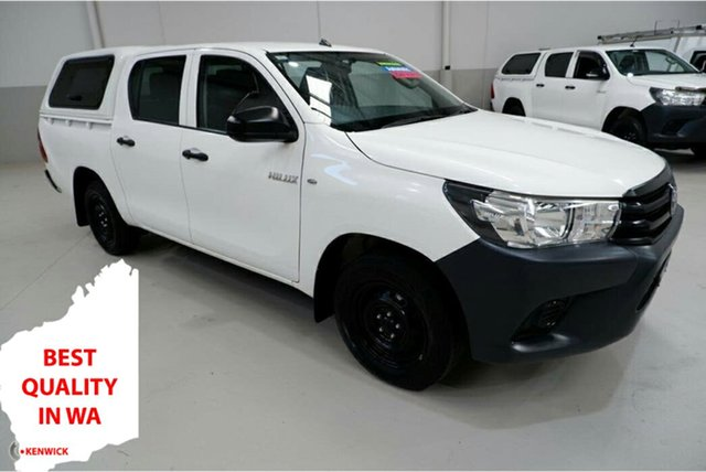 Used Toyota Hilux TGN121R Workmate Double Cab 4x2 Kenwick, 2016 Toyota Hilux TGN121R Workmate Double Cab 4x2 White 6 Speed Sports Automatic Utility