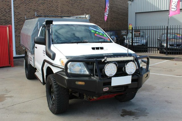 Used Toyota Hilux KUN26R 06 Upgrade SR (4x4) Hoppers Crossing, 2007 Toyota Hilux KUN26R 06 Upgrade SR (4x4) White 5 Speed Manual Cab Chassis