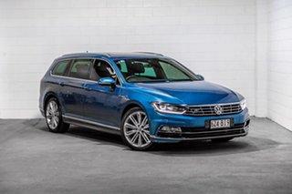 2017 Volkswagen Passat 3C (B8) MY18 206TSI DSG 4MOTION R-Line Blue 6 Speed.