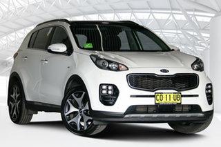 2018 Kia Sportage QL MY18 GT-Line (AWD) Pearl White 6 Speed Automatic Wagon.