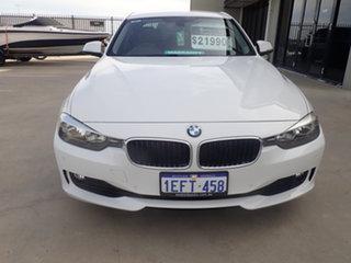 2013 BMW 318d F30 MY14 Luxury Line White 8 Speed Automatic Sedan.