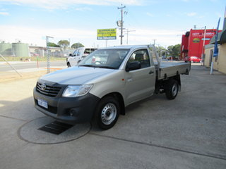 2013 Toyota Hilux KUN26R SR Silver 5 Speed Manual Cab Chassis.