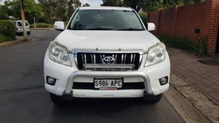 2011 Toyota Landcruiser Prado GRJ150R GXL (4x4) White & Apollo Blue 5 Speed Sequential Auto Wagon