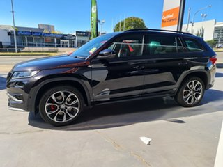 2020 Skoda Kodiaq NS MY21 RS DSG Black Pearl 7 Speed Sports Automatic Dual Clutch Wagon