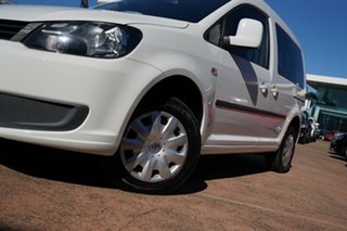 2012 Volkswagen Caddy 2K MY13 TDI250 Trendline White 7 Speed Auto Direct Shift Wagon.