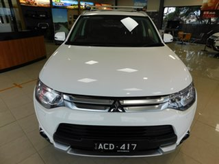 2014 Mitsubishi Outlander ZJ MY14.5 Aspire 4WD White 6 Speed Sports Automatic Wagon.