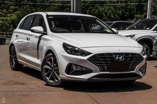 2021 Hyundai i30 PD.V4 MY21 Active White 6 Speed Sports Automatic Hatchback.