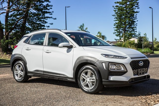 Used Hyundai Kona OS MY18 Active 2WD Port Macquarie, 2018 Hyundai Kona OS MY18 Active 2WD White 6 Speed Sports Automatic Wagon