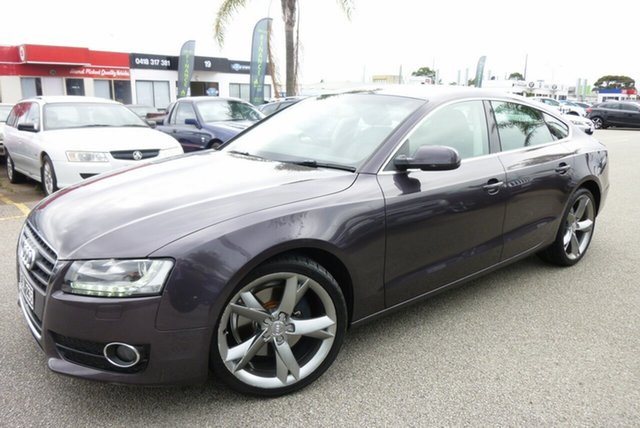 Used Audi A5 8T MY10 Sportback S Tronic Quattro Cheltenham, 2010 Audi A5 8T MY10 Sportback S Tronic Quattro Grey 7 Speed Sports Automatic Dual Clutch Hatchback