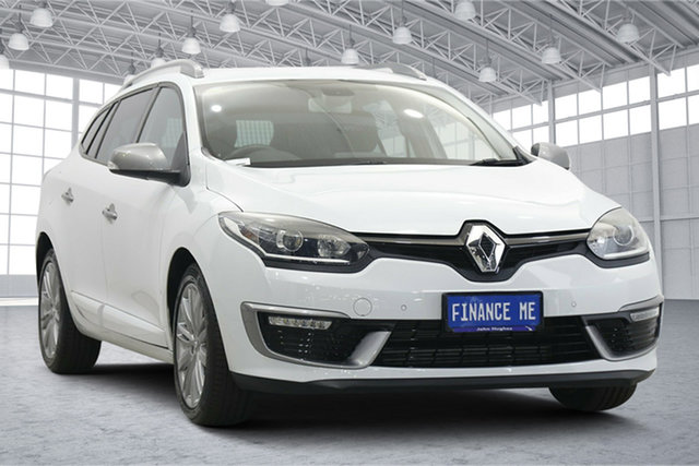 Used Renault Megane III K95 Phase 2 GT-Line Sportwagon EDC Victoria Park, 2016 Renault Megane III K95 Phase 2 GT-Line Sportwagon EDC White 6 Speed