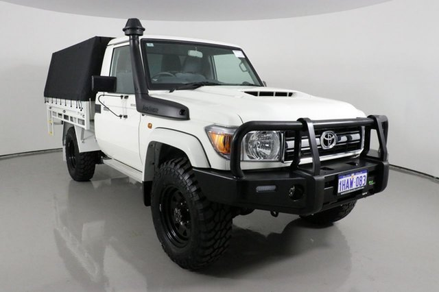 Used Toyota Landcruiser VDJ79R GXL (4x4) Bentley, 2020 Toyota Landcruiser VDJ79R GXL (4x4) White 5 Speed Manual Cab Chassis