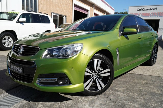 Used Holden Commodore VF MY15 SV6 Storm Narrabeen, 2015 Holden Commodore VF MY15 SV6 Storm Green 6 Speed Sports Automatic Sedan