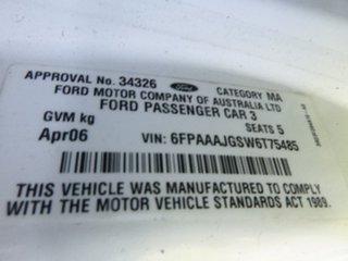 2006 Ford Falcon BF Futura White Sports Automatic Sedan