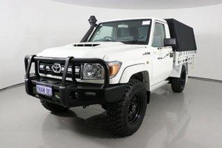 2020 Toyota Landcruiser VDJ79R GXL (4x4) White 5 Speed Manual Cab Chassis.