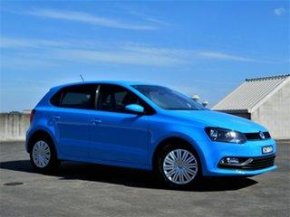 2016 Volkswagen Polo 6R MY16 66TSI DSG Trendline Blue 7 Speed Sports Automatic Dual Clutch Hatchback.