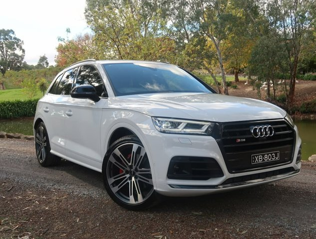 Used Audi SQ5 FY MY19 Black Edition Tiptronic Quattro Reynella, 2019 Audi SQ5 FY MY19 Black Edition Tiptronic Quattro White 8 Speed Sports Automatic Wagon