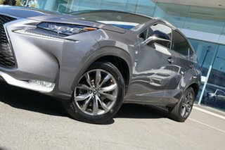 2015 Lexus NX200T AGZ15R F Sport (AWD) Mercury Grey 6 Speed Automatic Wagon.