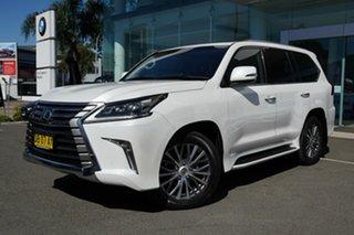 2016 Lexus LX570 URJ201R Facelift White Pearl 8 Speed Automatic Wagon.