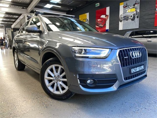 Used Audi Q3 8U TFSI Glebe, 2013 Audi Q3 8U TFSI Grey Sports Automatic Dual Clutch Wagon