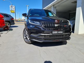 2020 Skoda Kodiaq NS MY21 RS DSG Black Pearl 7 Speed Sports Automatic Dual Clutch Wagon.