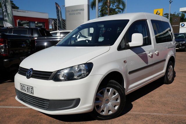 Used Volkswagen Caddy 2K MY13 TDI250 Trendline Brookvale, 2012 Volkswagen Caddy 2K MY13 TDI250 Trendline White 7 Speed Auto Direct Shift Wagon