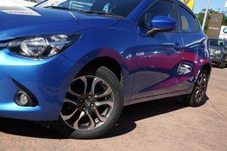 2015 Mazda 2 DJ Genki Blue 6 Speed Automatic Hatchback.