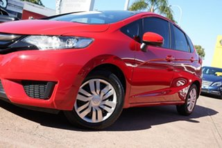 2014 Honda Jazz GK MY15 VTi Red Continuous Variable Hatchback.