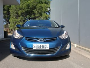 2014 Hyundai Elantra MD3 SE Blue 6 Speed Sports Automatic Sedan.