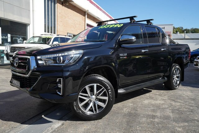 Used Toyota Hilux GUN126R SR5 Double Cab Narrabeen, 2019 Toyota Hilux GUN126R SR5 Double Cab Black 6 Speed Sports Automatic Utility