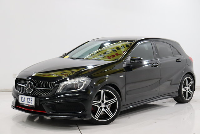 Used Mercedes-Benz A-Class W176 A250 D-CT Sport Brooklyn, 2013 Mercedes-Benz A-Class W176 A250 D-CT Sport Black/Grey 7 Speed Sports Automatic Dual Clutch