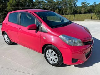2011 Toyota Yaris NCP130R YR Pink 4 Speed Automatic Hatchback.