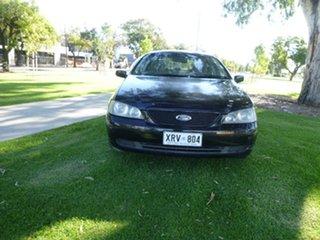 2002 Ford Falcon BA XT Black 4 Speed Sports Automatic Sedan.