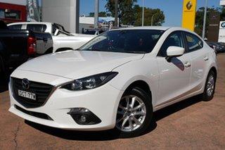 2016 Mazda 3 BM MY15 Touring White 6 Speed Automatic Sedan.