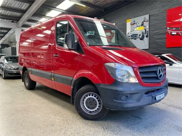 Used Mercedes-Benz Sprinter NCV3 Glebe, 2014 Mercedes-Benz Sprinter NCV3 416CDI Red Sports Automatic Van