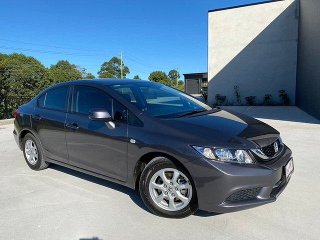 Used Honda Civic 9th Gen Ser II MY15 VTi Cooroy, 2015 Honda Civic 9th Gen Ser II MY15 VTi Grey 5 Speed Sports Automatic Sedan