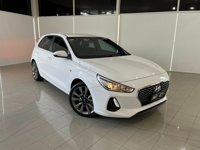 Used Hyundai i30 PD MY18 SR D-CT Deer Park, 2017 Hyundai i30 PD MY18 SR D-CT White 7 Speed Sports Automatic Dual Clutch Hatchback